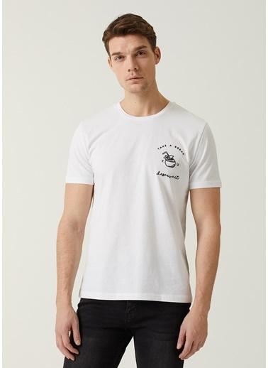 Beymen Club Beymen Club  Kabartmalı Kokteyl Baskılı T-shirt 101449046 Beyaz